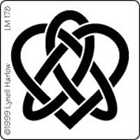 Celtic Heart Knot Stencil