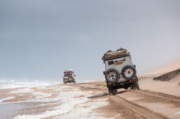 Driving Along the Skeleton Coast in Namibia