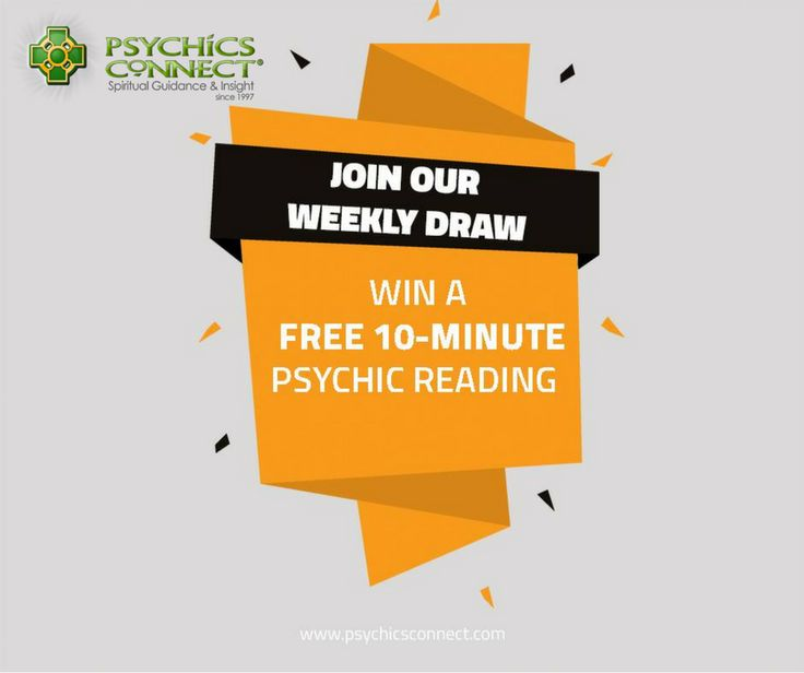 WIN A FREE 10-MINUTE PSYCHIC READING!   Psychics Connect is giving away a free reading to a lucky winner each week.   Simply register and answer the question below.   Please make sure to verify your email to qualify for this promotion.   https://qm314.infusionsoft.com/app/page/psychicsconnectfbdraw   The winner will be announced in our social media pages and will be notified through private email.
