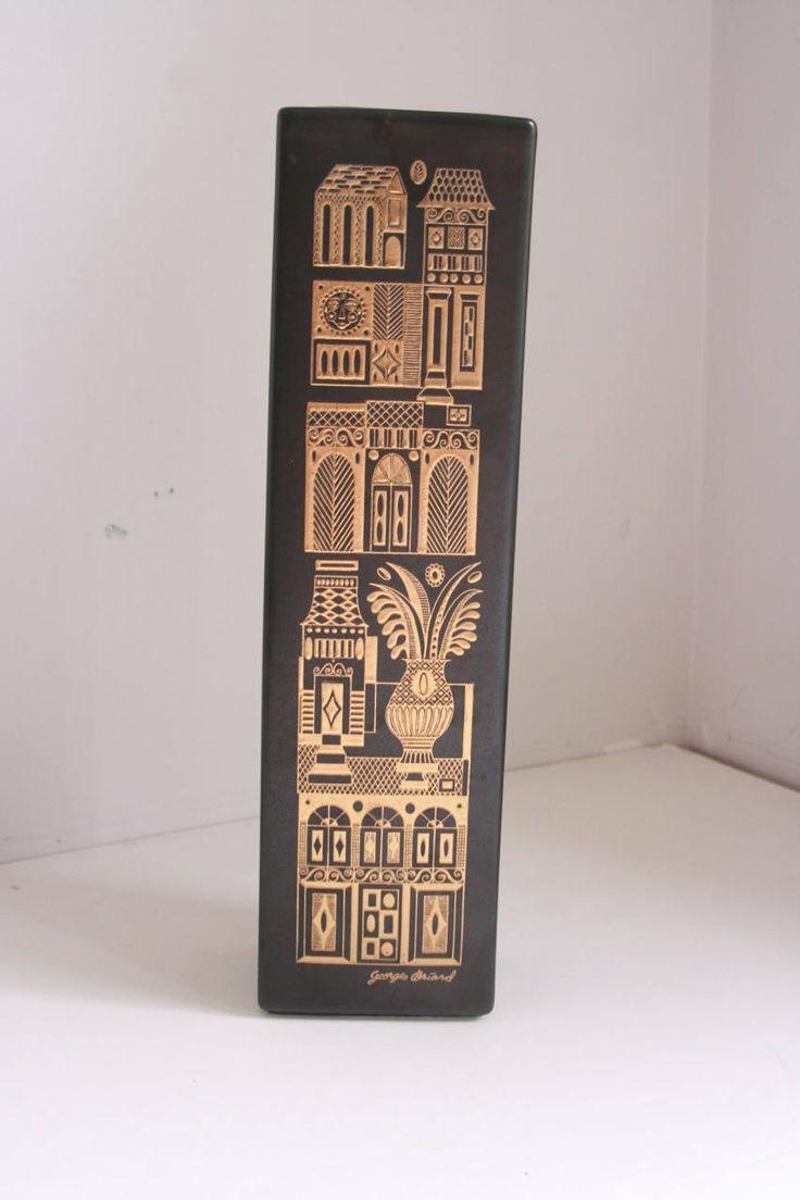 87 best hyalyn porcelain images on pinterest china porcelain georges briard tall vase hyalyn porcelain midas gold on matte glaze mid century modern 1950s by reviewsmspy