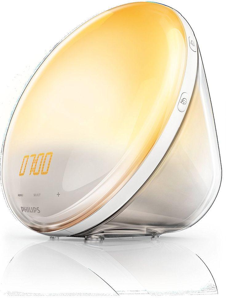 Philips HF3520/01 Wake-Up Light (Sonnenaufgangfunktion, digitales FM Radio, Tageslichtwecker) weiß: Amazon.de: Beleuchtung