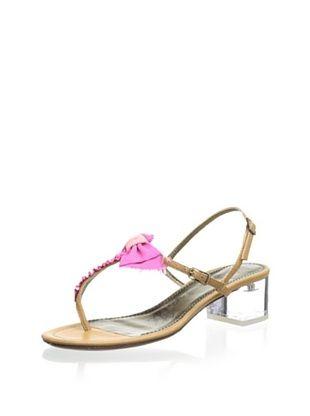 39% OFF Lanvin Women's Sandal with Lucite Heel (Camel)