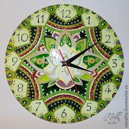 "Часы для дома ручной работы. Ярмарка Мастеров - ручная работа Часы ""Лотос"". Handmade."