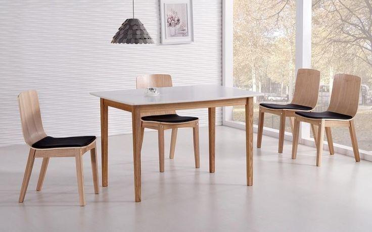 Nesto matbord 120 cm - Vit/Ljus ek