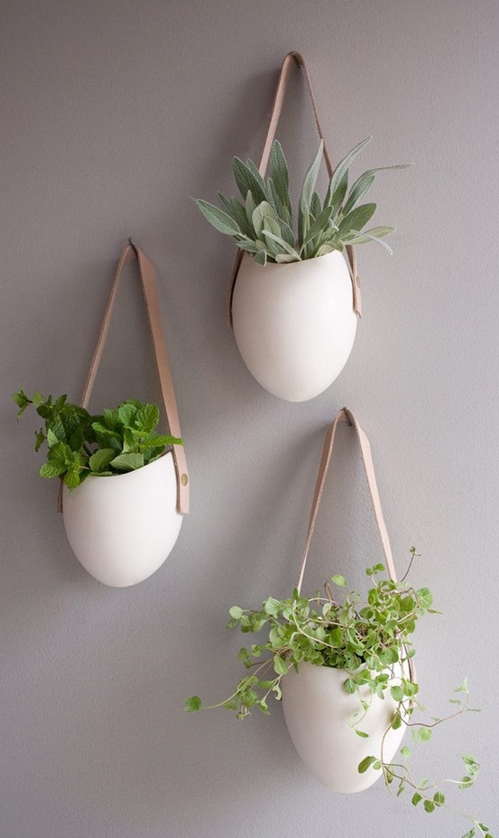 What a great idea! I have cats who tend to eat plants, so keeping them where they can't get to them has always prevented me from having more green in my home, but this is a delightful idea! Thanks pinners!