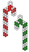 Beaded Candy Canes Pattern