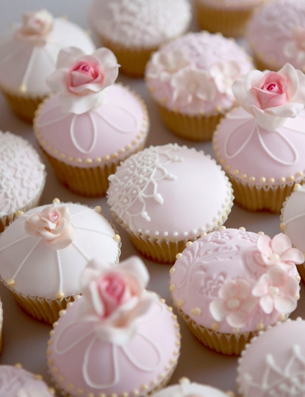 Pink cupcakes!                                                                                                                                                                                 More