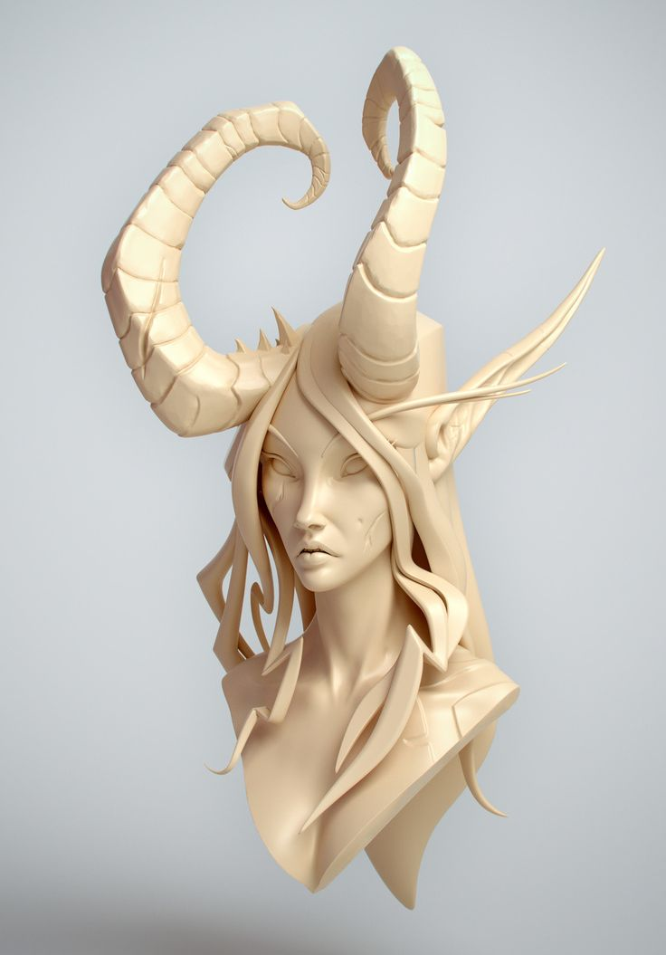 This is a bust after a concept from Tyson Murphy. I'm looking forward to handpaint this fine lady when the time is right :)  Concept: http://tysonmurphy.tumblr.com/image/126192758469
