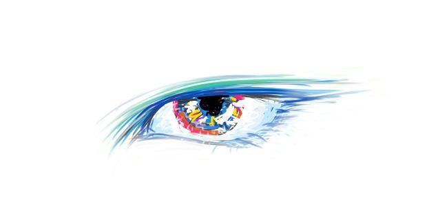 photoshop app sketch on ipad. Tags: beautiful, emotional eye, colorful eye, drawing, art