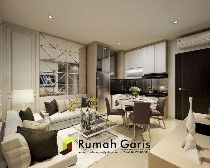Desain Interior Living Room Apartemen Di Jakarta Renderonline 3drender Realrender