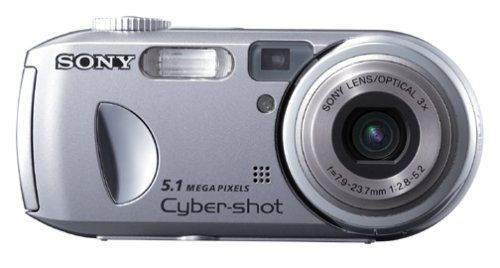 Sony Cybershot DSCP93A 5MP Digital Camera with 3x Optical Zoom. 5-megapixel sensor (2592 x 1944 pixels) for enlargements up to 20 x 30 inches. 3x optical zoom plus 2x digital zoom for 6x total. High-resolution movie mode with sound; A/V output to TV; 9-shot burst; histogram display. Compatible with Memory Stick and Memory Stick Pro media; includes 32 MB card. Powered by 2 AA batteries (NiMH rechargeables included); connects to PCs and Macs via USB 2.0.