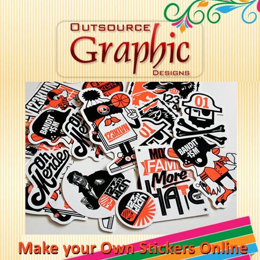 Yes, making your own stickers online at very reasonable cost is made more convenient by Outsource Graphic Designs, New Delhi. The in-house team of stickers' designing & printing specialists offers wide range of options to choose the paper type, cutting style, size, printing style, appearance effect, adhesive etc.