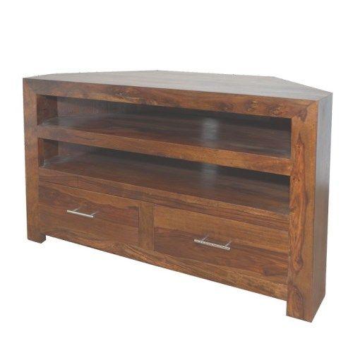 Heritage Furniture Cuba Sheesham Corner TV Unit