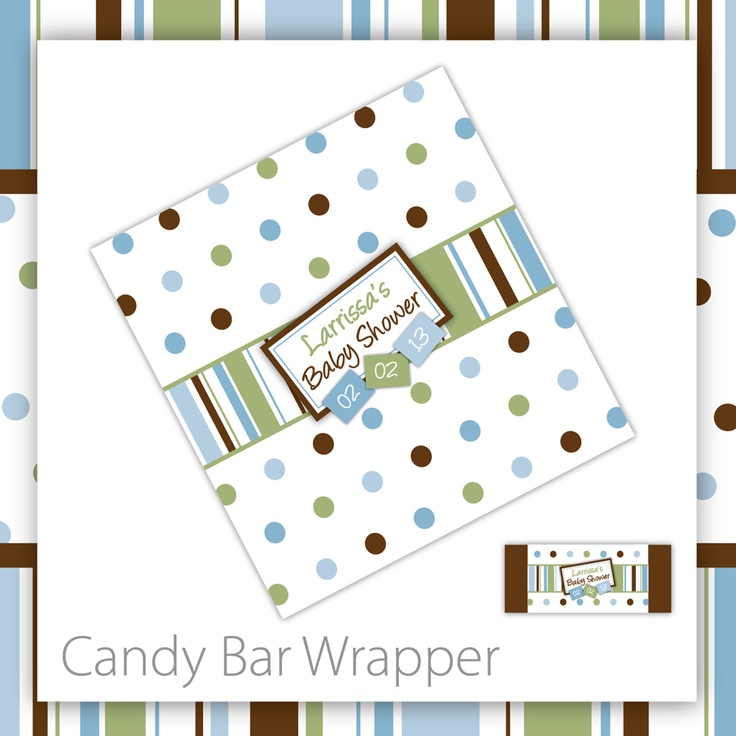 Baby Shower Candy Bar Wrappers . Printable . Nature Cutey ~ $8.00 ~ baby shower…