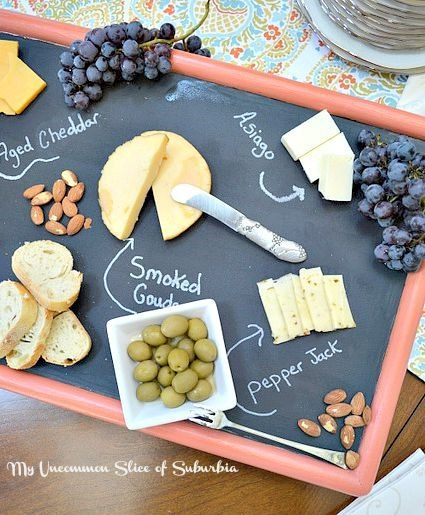 Turn an Ugly TV Tray Into a Cheeseboard