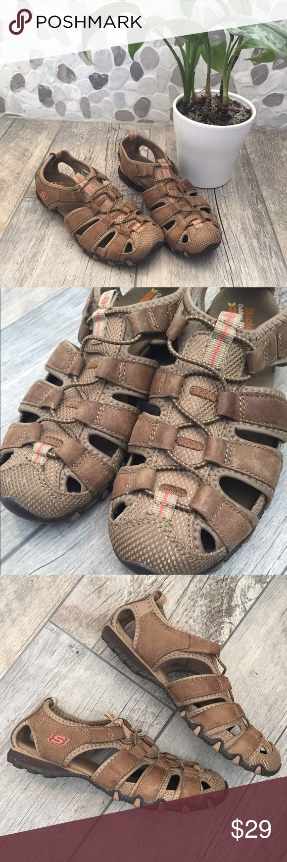 EUC Skechers Outdoor Lifestyle Leather Sandals Worn only a couple of times. Still in perfect condition. These Leather Sport Sandals are perfect for the active lifestyle. Great for hiking, walking trails etc. Skechers Shoes Sandals