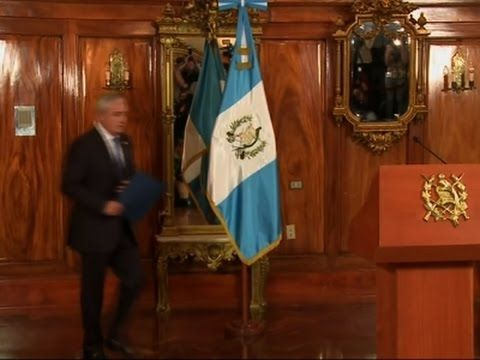 Guatemalan President Resigns - YouTube