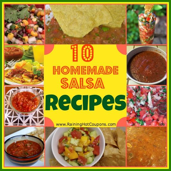 These recipes look great! I'm making one tonight!~~~~10 Homemade Salsa Recipes