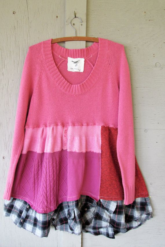 Romantic upcycled clothing ladies Tunic by lillienoradrygoods