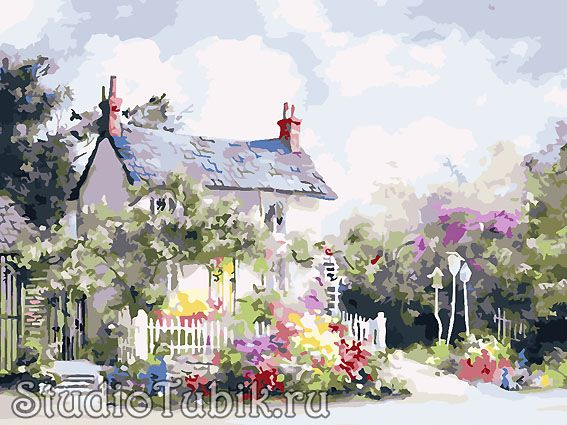 Картины известных художников : Уютный дом, худ.Marty Bell ...