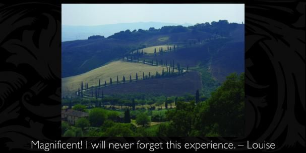 You're Invited | Debbie Travis' Official Site Dream trip to Tuscany with Debbie Travis