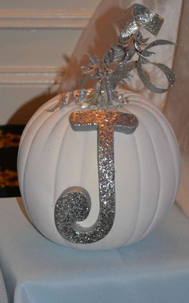 Pretty pumpkin at a Cinderella birthday party! See more party planning ideas at CatchMyParty.com!