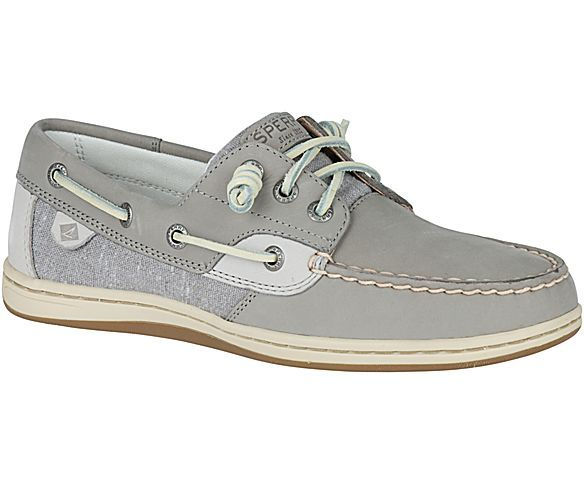 Slip into your women's Sperry Songfish Boat Shoes in neutral linen oat or  classic grey and set sail in style