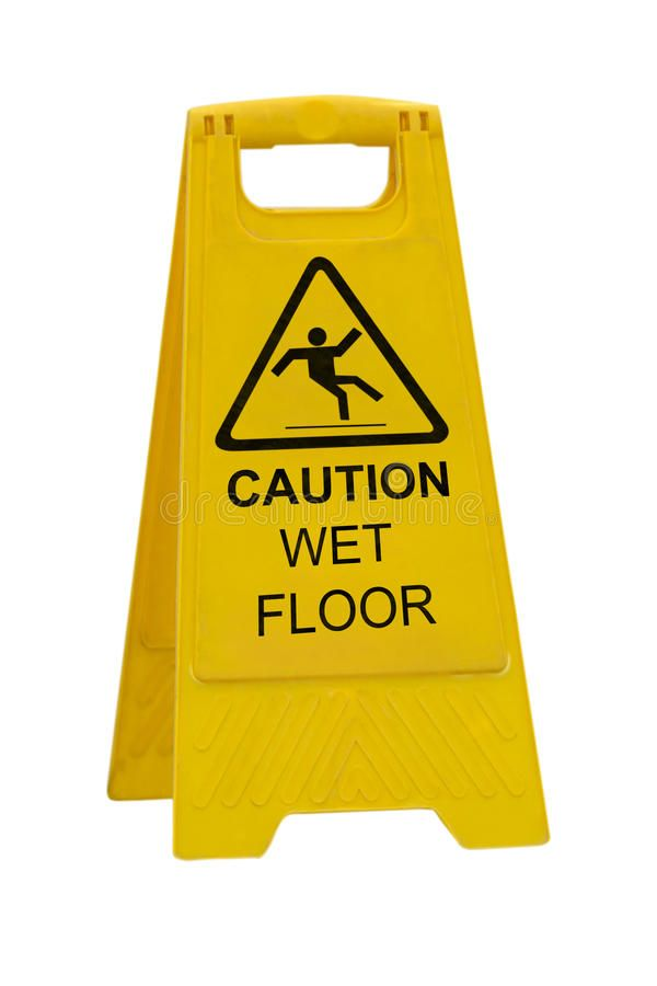 Caution Wet Floor Sign Yellow Caution Slippery Wet Floor Sign Isolated On White Affiliate Floor Sign Caution Wet Ye Wet Floor Signs Wet Floor Wet