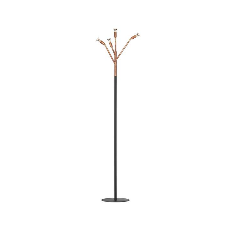 Kvist 4 golvlampa - Kvist 4 golvlampa - koppar, svart strukturlack