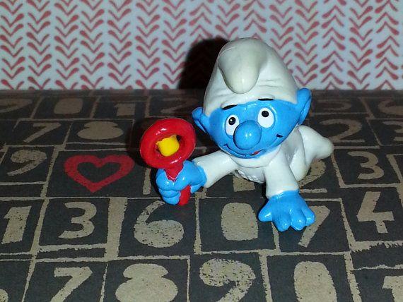 Vintage Baby SMURF Figurine by AlphachicsEDEN on Etsy, $10.00