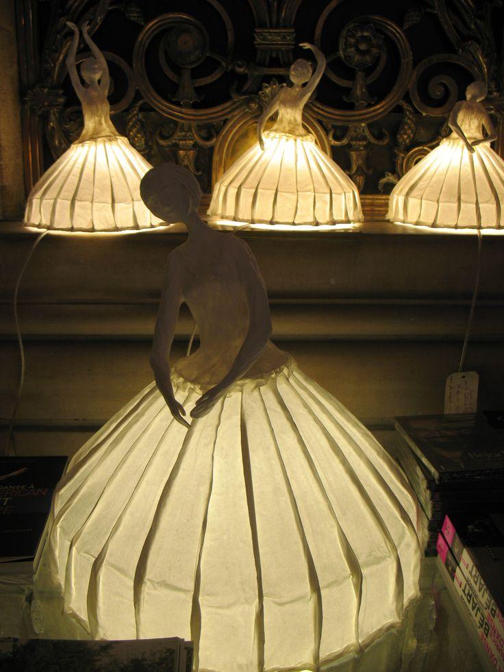 Paper light sculptures by L'atelier Papier à Êtres: Sophie Mouton-Perrat and Frédéric Guibrunet