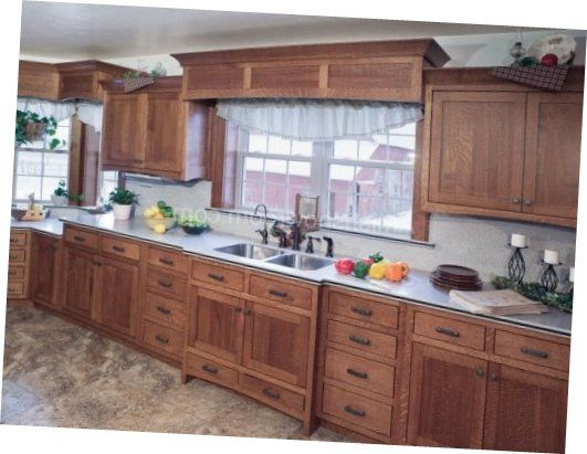 Amish Kitchen Cabinets Present Upper And Lowest Kitchen ...