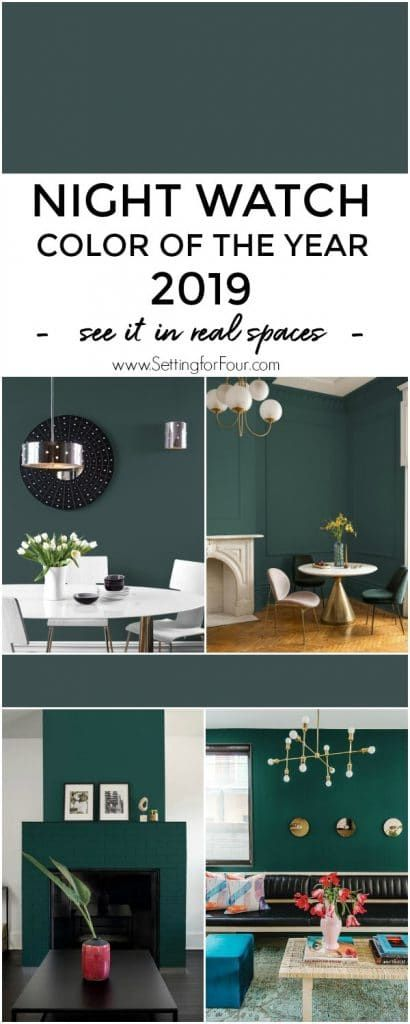 Night Watch Color Of The Year 2019 Paint Color Diy Home Decor