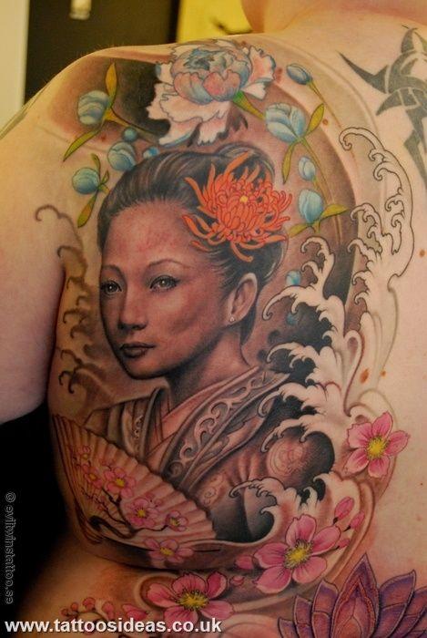 32 best geisha tattoo images on pinterest geisha tattoos - Tattoos geishas japonesas ...