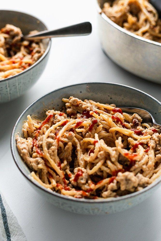 best spicy whole wheat pasta with ground turkey 3 scoops of sugar recipe ground turkey pasta ground turkey recipes whole wheat pasta pinterest