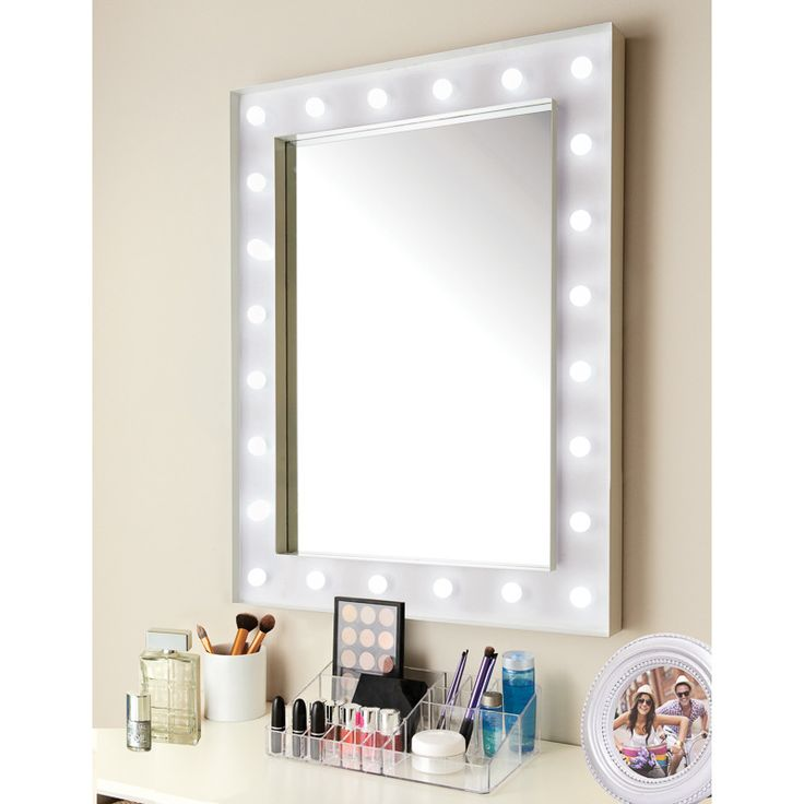Hollywood 24 led bulb mirror coated metal frame with battery operated led light bulbs complete with hooks ready for hanging decorative home accessory