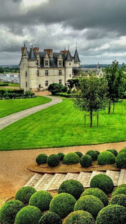 The royal Château at Amboise of the Loire Valley in France.