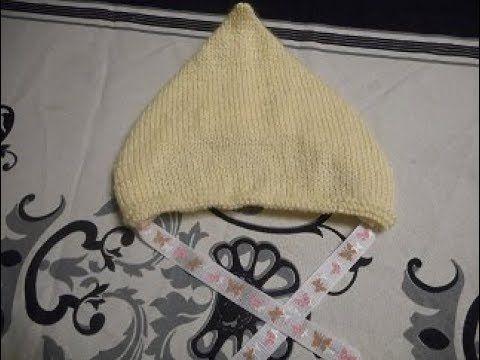 tuto tricot capuchon pointu bébé   tuto tricot 2c1ebd34f15