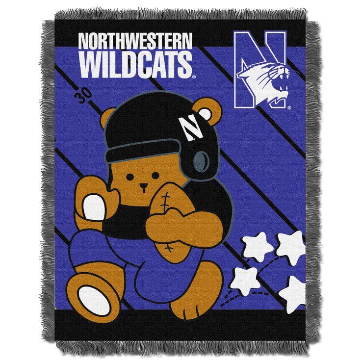 Northwestern College Baby 36x46 Triple Woven Jacquard Throw - Fullback Series