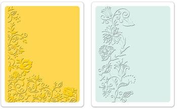 Sizzix Embossing Folders - Floral Vines Set