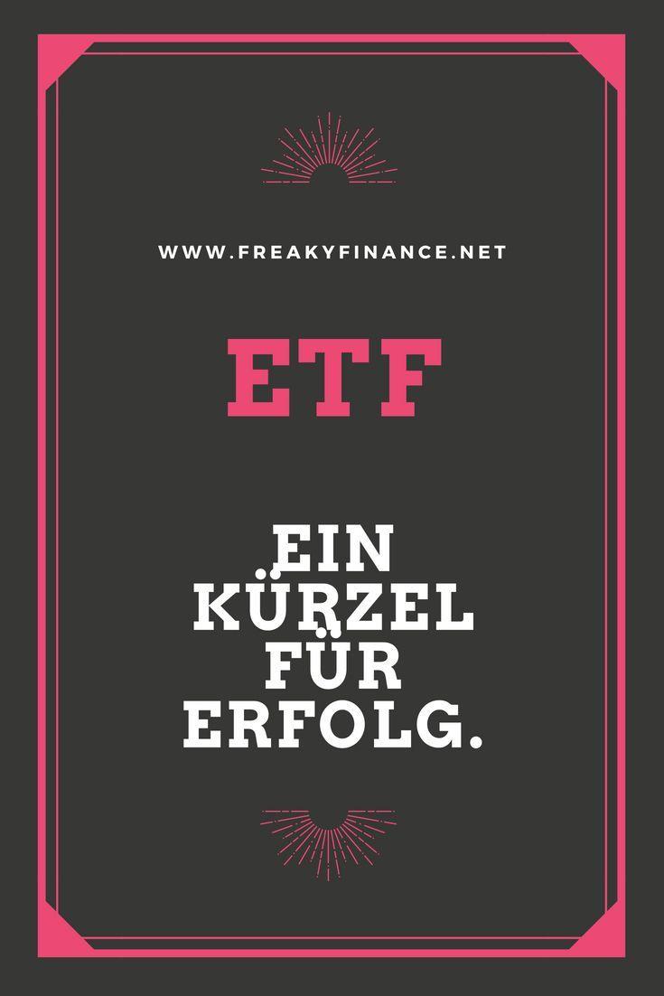 ETF – ein Kürzel für Erfolg – NACHHALTIG // Finanzen