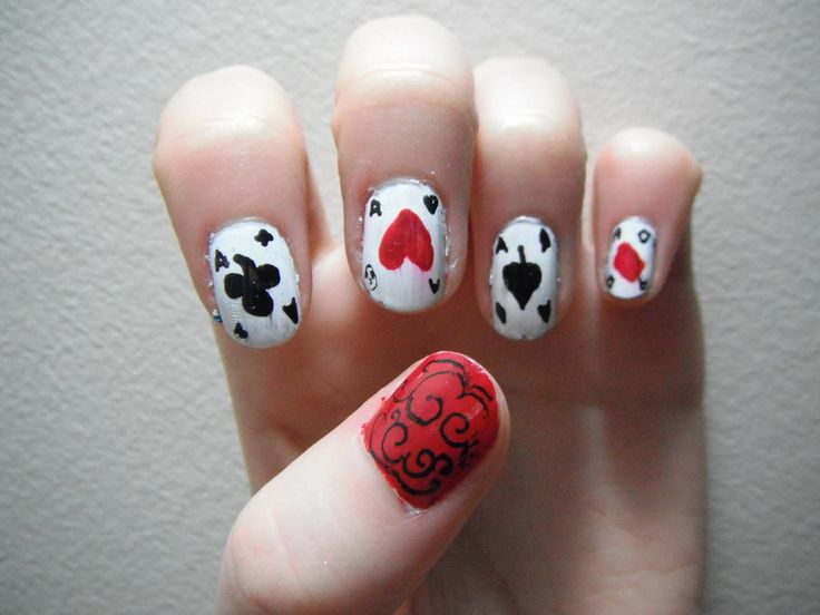 Poker Cards Nail Art Casino Portal Online
