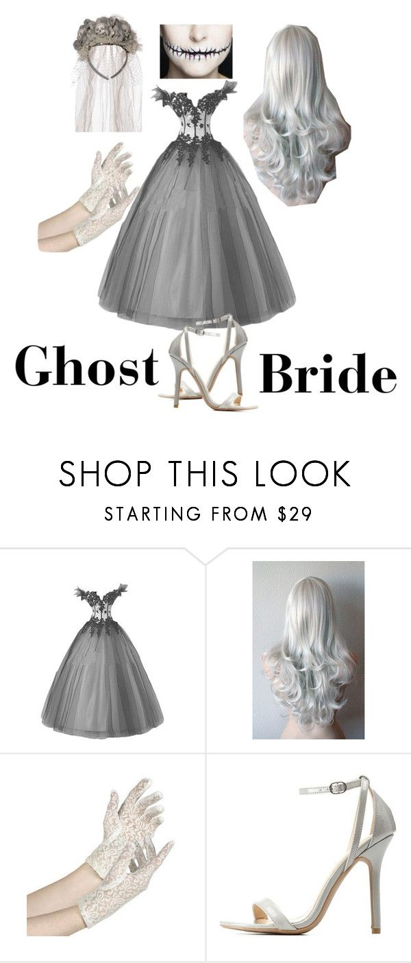"""Ghost Bride Halloween costume"" by dancebunny03 ❤ liked on Polyvore featuring Charlotte Russe                                                                                                                                                                                 More"