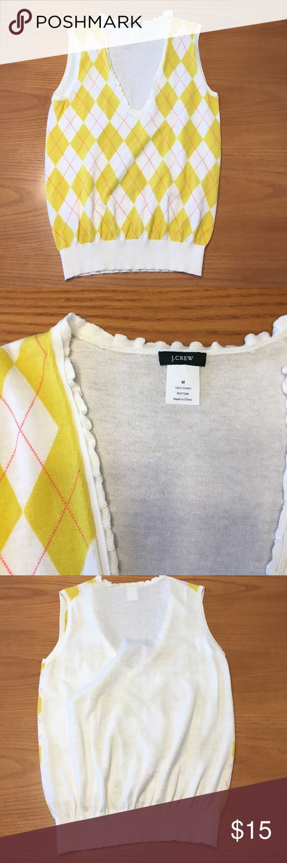 NWOT J. Crew Argyle Vest New, never-worn argyle vest from J. Crew. Rock the sexy nerd look with this as part of your outfit! J. Crew Sweaters