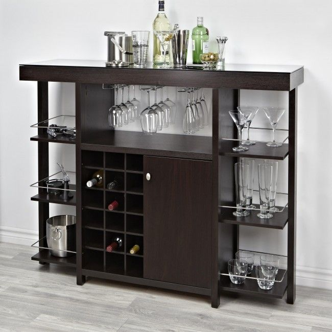 Entertain In Style With The Brassex Geneva Bar Unit. This Multi Function,  Wood Unit