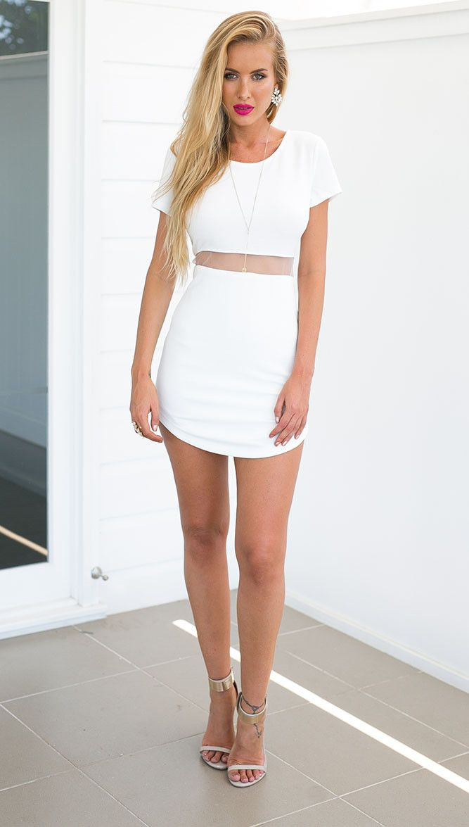 Curve Ball Dress (white)