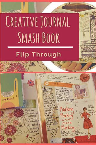 Flip through of my fully completed Creative Journal / Smash book and Plannercon Europe News - Kerrymay._.Makes