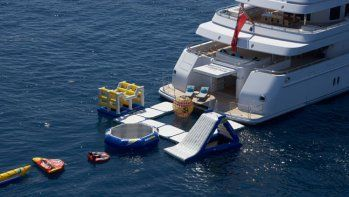 yauct with waterfall on it | ... : Billionaire John Caudwell's $13 Million Makeover for Titania Yacht