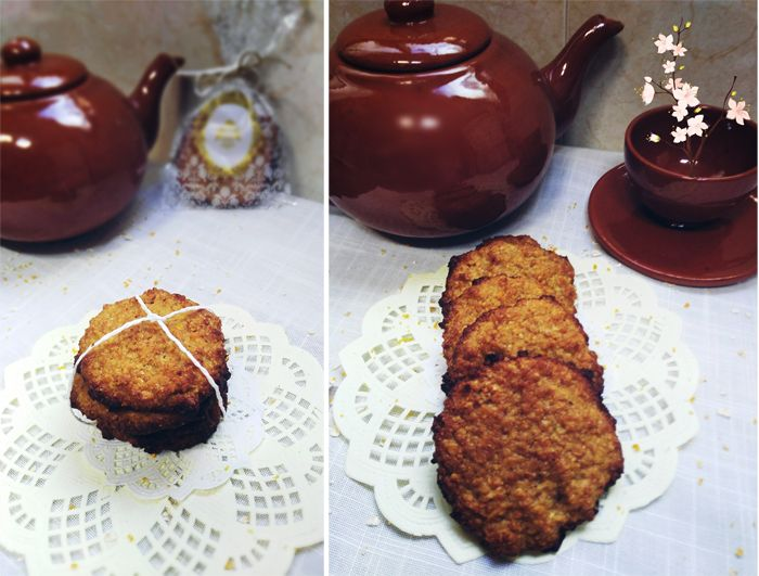 galletas integrales de avena y naranja