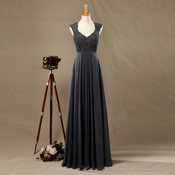 2016 Dark Grey Bridesmaid dress Lace Wedding dress von harsuccthing